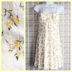 American Eagle Yellow Floral Dress